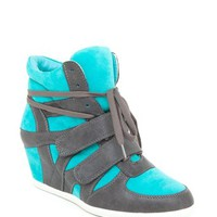 A'GACI Alana 1 Combo Material Hidden Wedge Sneaker - WEDGES