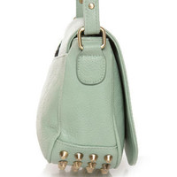 Cute Studded Purse - Mint Green Purse - $38.00
