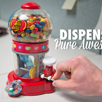 Jelly Belly Dispenser: Mechanical jelly bean dispenser.