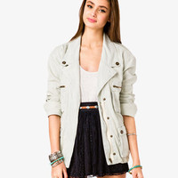 Railroad Stripe Utility Jacket | FOREVER21 - 2020296080