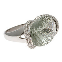 Max & Chloe - Nehita Green Amethyst Ring - Max and Chloe