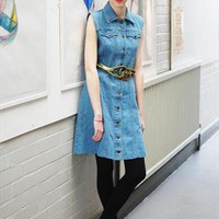Vintage 1980's stonewash sleeveless dress size 8-10 | Joanie's Junk | ASOS Marketplace