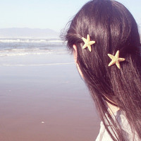 Mermaid&#x27;s Starfish Hair Clips by dreamsbythesea
