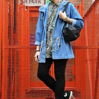 (99+) Vintage Japanese Light Denim Parka | JCR-Planet | ASOS Marketplace