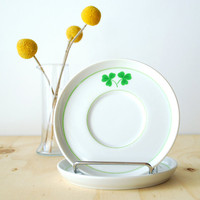 Pair of Clover Saucers - St. Patrick's Day - Irish Shamrock