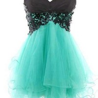 Fantastic Lace Ball Gown Sweetheart Mini Prom Dress
