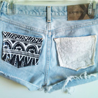 Customize Studded Tribal &amp; Lace Pocket High by InfinitynBeyondx