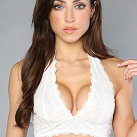 The Galloon Lace Halter Bra in Ivory : Free People : Karmaloop.com - Global Concrete Culture