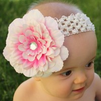 Amazon.com: Headbandz Baby Headband with Unique Flower Clip: Clothing