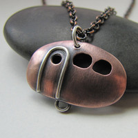 Campy Camper copper and sterling silver vintage by silentgoddess