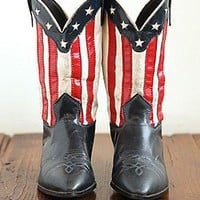 Free People  Vintage American Flag Cowboy Boots at Free People Clothing Boutique