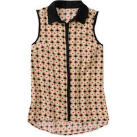 Walmart: Alexis Taylor Women's Sleeveless Collar Button Down Top