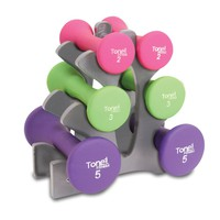 Tone Fitness Hourglass Shaped Dumbbells