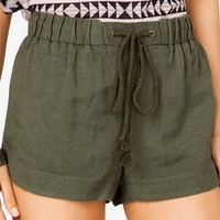 Linen Blend Dolphin Shorts | FOREVER 21 - 2040901823