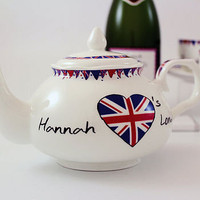 union jack tea set by the contemporary home | notonthehighstreet.com