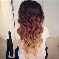 OCEAN OMBRE/ 24 inch human hair extensions/ remy quality hair/ ombre hair wefts/ dip dye free style people hair