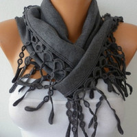 Women Pashmina  Scarf   Cotton Scarf  Headband  Cowl by fatwoman