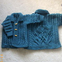 MacDara aran coat PDF knitting pattern for baby or toddler