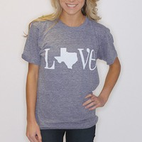 LOVE Texas Tri-Blend American Apparel - grey - Riffraff