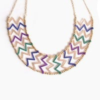 Zig Zag Collar Necklace @ FrockCandy.com