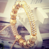Bracelet Golden Diamond Line Long