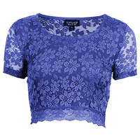 Lace Crop Tee - Topshop USA