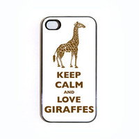 Keep Calm And Love Giraffes iPhone 4 case  Choose by keepcalmstore