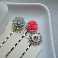 Vintage Romantic Floral Hair Pin Set