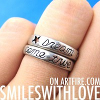 Dream Come True Ring with Star Cut Out Detail in Silver US Size 5 ONLY