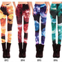 Green Color Dream Series Galaxy Leggings [1032]