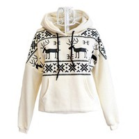 Women&#x27;s Deer Hooded Sweatershirt