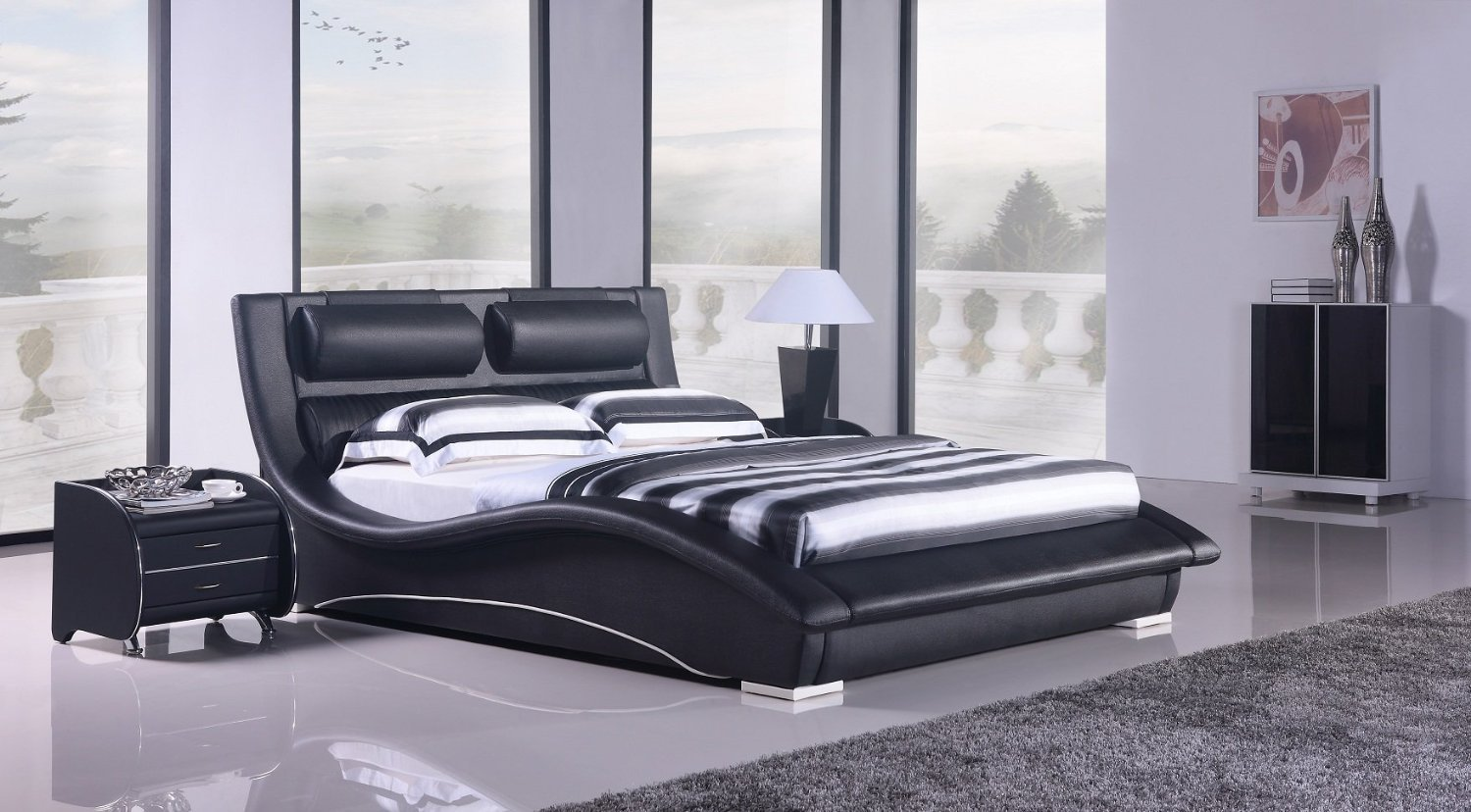 napoli modern platform bed black king from things i