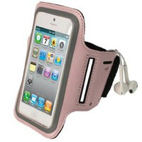 Amazon.com: igadgitz Pink Reflective Anti-Slip Neoprene Sports Gym Jogging Armband for New Apple iPhone 5 Cell Phone 4G LTE: Cell Phones & Accessories