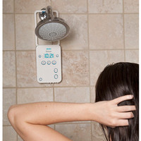 Water-Resistant Bluetooth Shower Speaker for iPhone/iPad/Android  @ Sharper Image