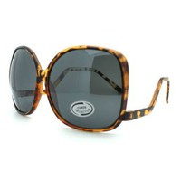 Amazon.com: Tortoise Drop Temple Over Sized Large Round Sunglasses: Clothing
