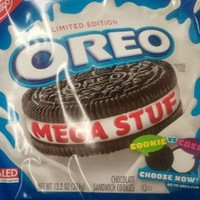 Nabisco, Oreo, Chocolate Cookie, Mega Stuf, Limited Edition, 13.2oz Bag (Pack of 4): Amazon.com: Grocery & Gourmet Food