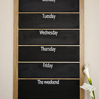 portrait daily organiser chalkboard by daniel reynolds | notonthehighstreet.com