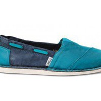 Turquoise Navy Women&#x27;s Bimini Stitchouts | TOMS.com