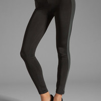 Plush Tuxedo Stripe Legging in Black/Charcoal from REVOLVEclothing.com