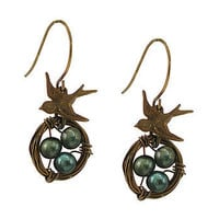 Vintage Birds Nest Earrings