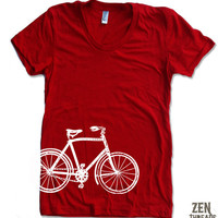 Womens VINTAGE BICYCLE T Shirt american apparel S M by ZenThreads