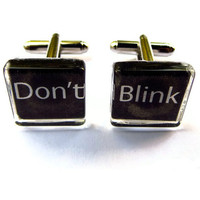 Doctor Who Cuff Links, Don't Blink Bullet Cufflinks, Geeky Groomsmen Gifts