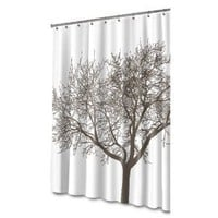 Splash Home Tree Mocha Eva Shower Curtain