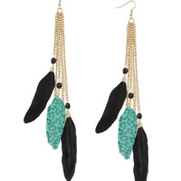 Leopard Feather Earrings | FOREVER21 - 1000042245