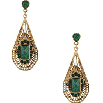 Long Beaded Teardrop Earrings | FOREVER21 - 1081258772