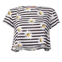 Daisy Stripe Crop - £10 and Under - SALE