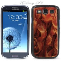 Black Snap-on Samsung Galaxy S3 Phone Cover Case Bacon Food breakfast