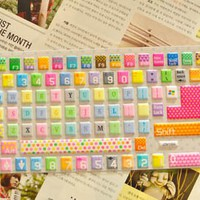 Rainbow Color Dot and Heart Pattern Keyboard Protective Film [594]