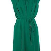 Lanvin | Draped silk dress | NET-A-PORTER.COM