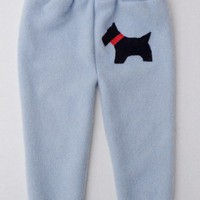 Upcycled Cashmere Sweater Pants with Scotty Dog, 6-12 mos.